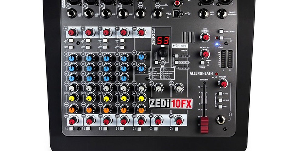 Allen & Heath ZEDi-10FX Hybrid Compact Mixer/4x4 USB Interface with FX