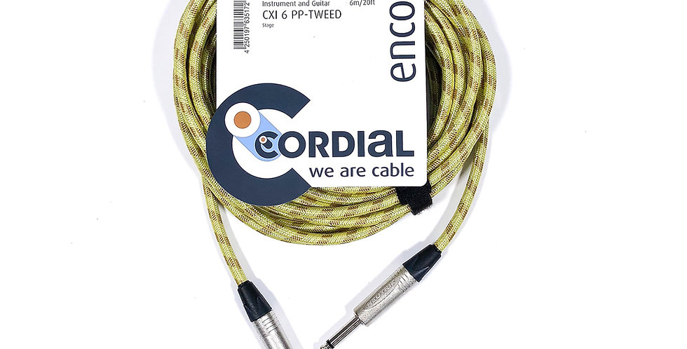 Cordial CXI 6PP Tweed Instrument cable