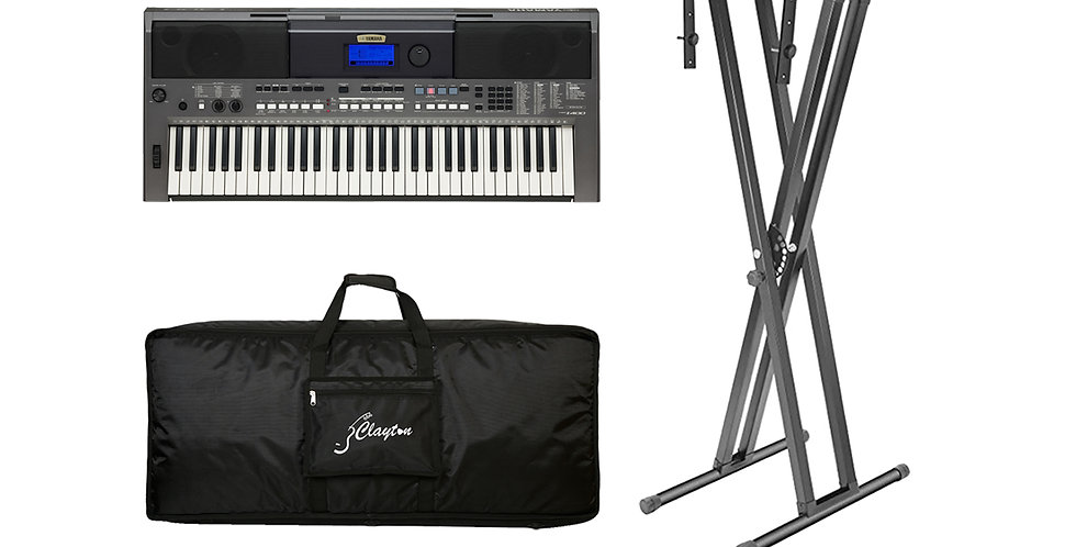 Keyboard Pack 1 (PSR I400, CKC 5 keyboard bag, SK keyboard stand)