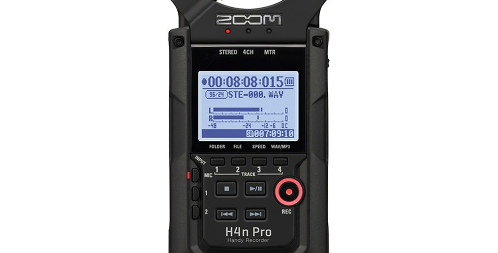 Zoom H4n Pro 4-Input / 4-Track Portable Handy Recorder with Onboard X/Y Mic