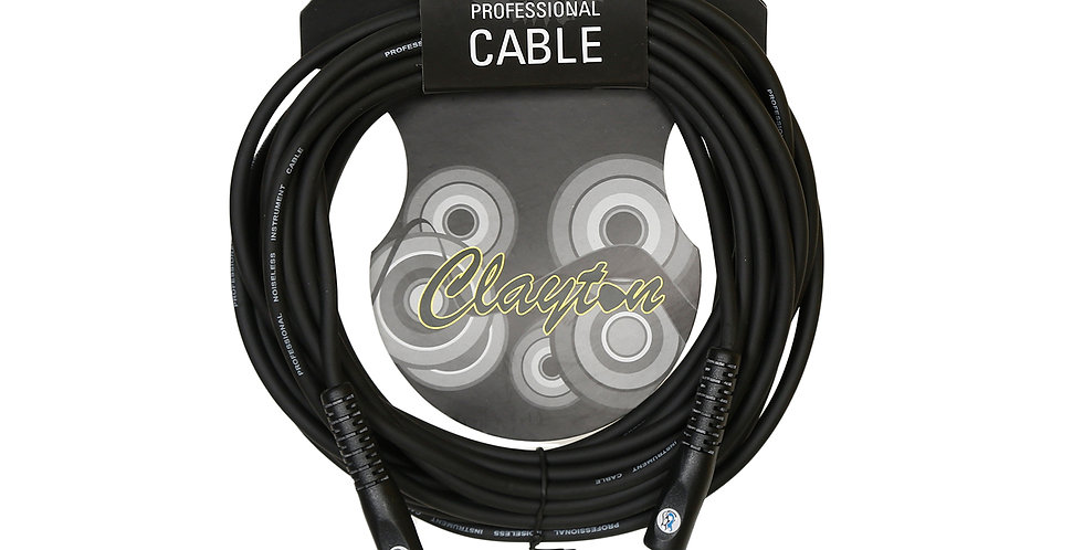Clayton 5m phono to phono TS instrument cable