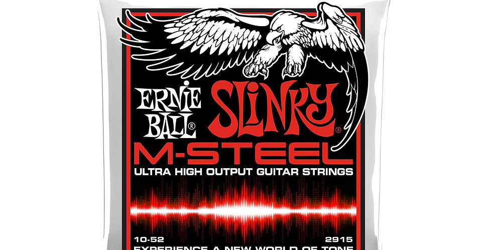Ernie Ball 2915 M-Steel M-STEEL ELECTRIC GUITAR STRINGS - 10-52 GAUGE
