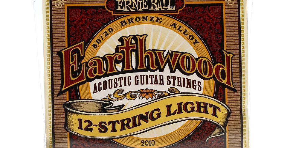 Ernie Ball 2010 EARTHWOOD LIGHT 12-STRING 80/20 BRONZE ACOUSTIC GUITAR 9-46 set
