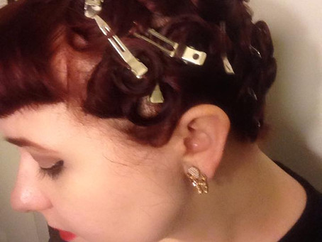Pin curl set Before and after!