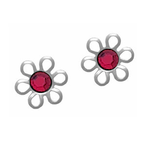 Daisy Stud Earrings White
