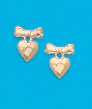 Heart & Bow Stud