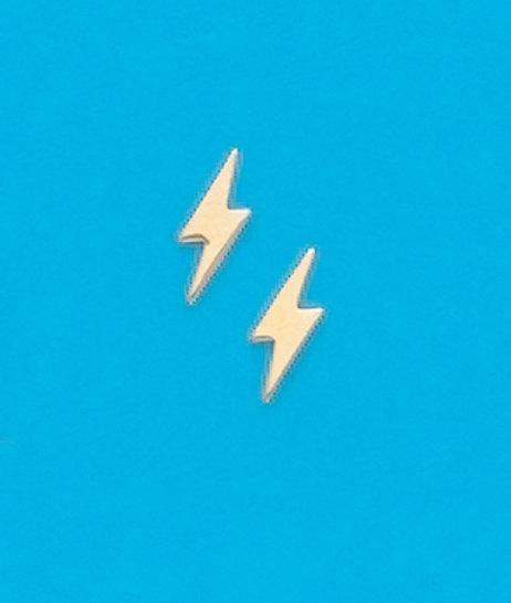 Lighting Bolt Stud Earrings