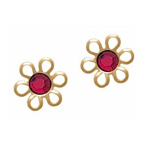 Daisy Stud Earrings Gold