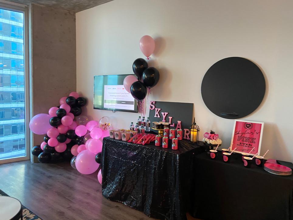 Hotel Slumber Party w/custom snacks & favors