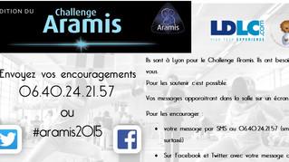 Animation : Envoyer vos encouragements aux tireurs d'Aramis