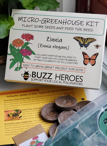 Micro-Greenhouse Kit: Zinnia