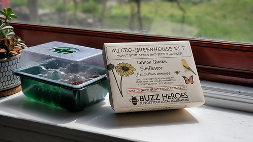 Micro-Greenhouse Kit: Lemon Queen Sunflower