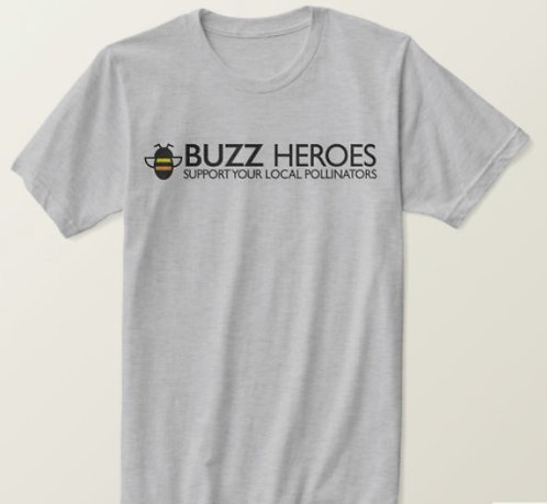 T-Shirt Heather Grey with Logo and Slogan