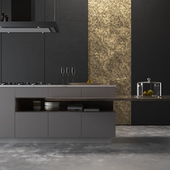 gold-panel-kitchen-black-cabinetry-grey-