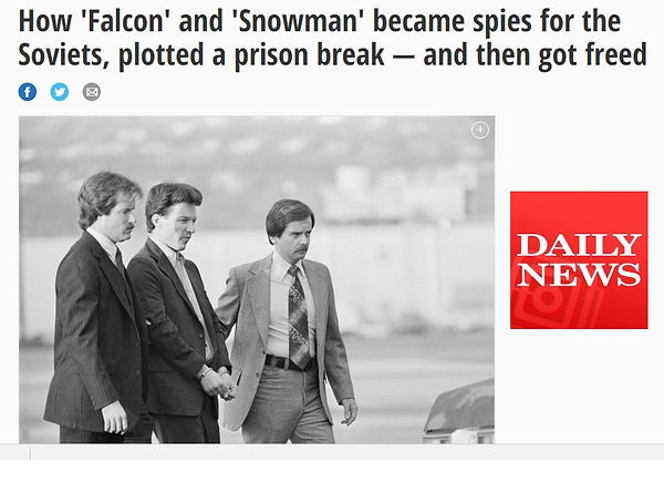 The New York Daily News reports on how Cold War war spies Christopher Boyce and Andrew Daulton Lee (the Falcon and the Snowman) won their freedom.