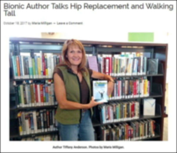 Author Tiffany Anderson talks about her book Butternut to Bionic: A Resource Guide for Hip Replacement Surgery.