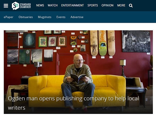 Ogden man opens publishing company to help local writers.
