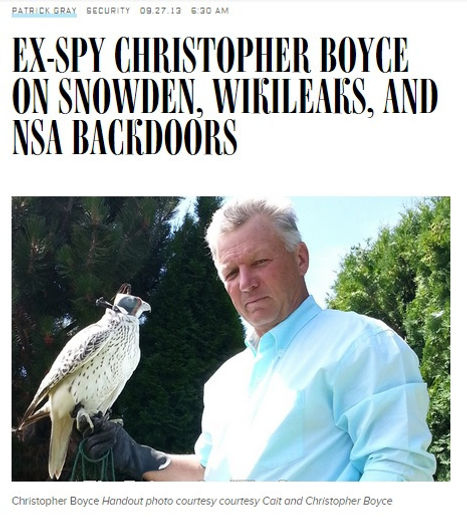 Wired interviews Cold War spy Christopher Boyce about Edward Snowden, Wikileaks, and Boyce's book American Sons: The Untold Story of the Falcon and the Snowman.