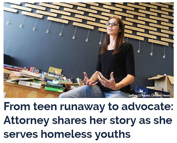 From teen runaway to advocate: attorney shares her story as she serves homeless youths.