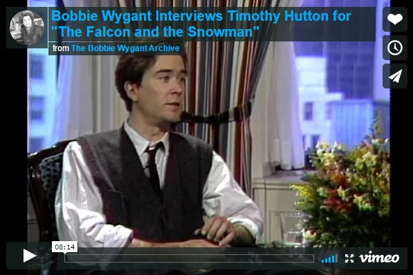 Bobbie Wygant interviews Timothy Hutton about Cold War spy Christopher Boyce and the movie The Falcon and the Snowman.