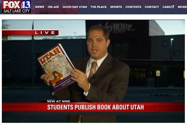 Students from Venture Academy Middle School publish a history book about Utah.