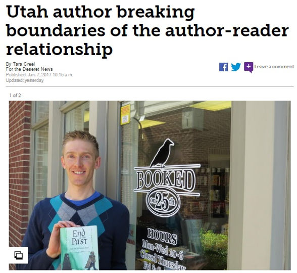 Utah author Bonn Turkington is breaking the boundaries of the author-reader relationship.