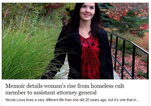 Memoir details woman's rise from homeless cult member to assistant attorney general.