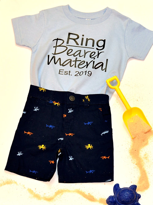 Ring Bearer Material T-shirt