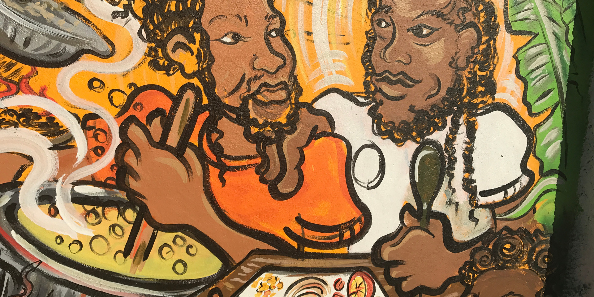 Mural detail, Portrait of Nakiea and his Brother