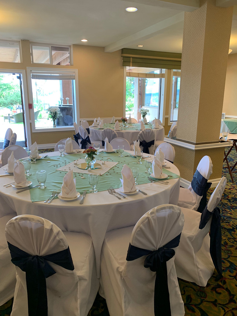 wedding reception dinner set
