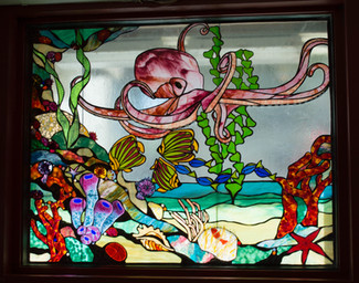 stained glass art in resta