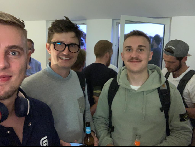 Logwardians Jonas Krumland, Tommy Atwell, Lukas Puchler