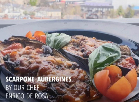 Stay safe, Eat delicious with our chef's recipes!  °°°'Scarpone' Aubergines°°°