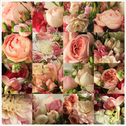 Wedding flowers composition