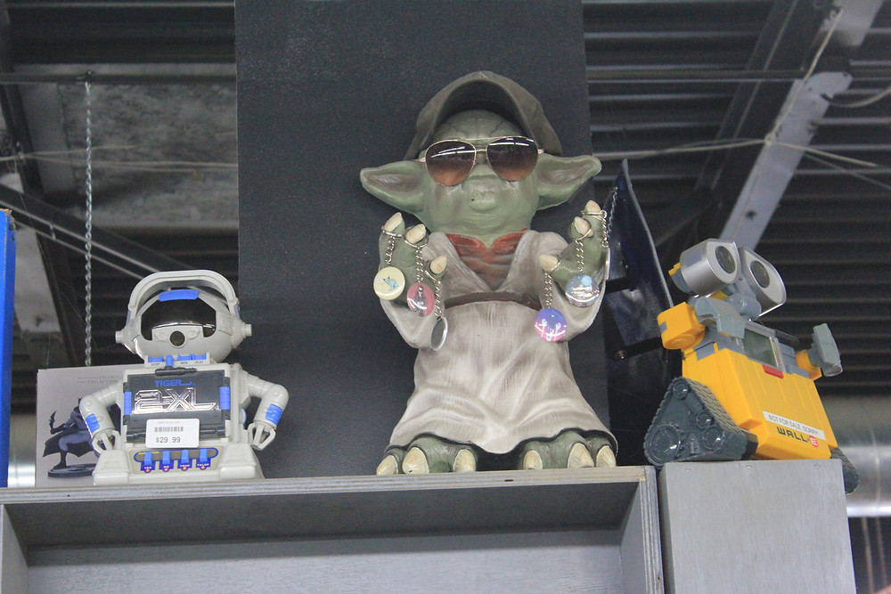 2XL robot, Yoda and Wall-E