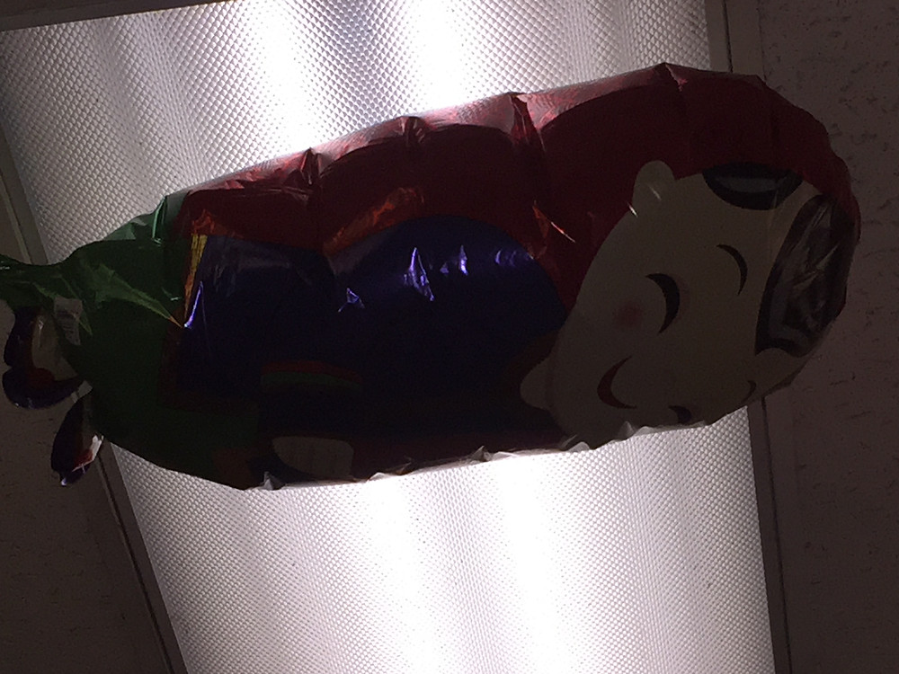 Balloon on a ceiling
