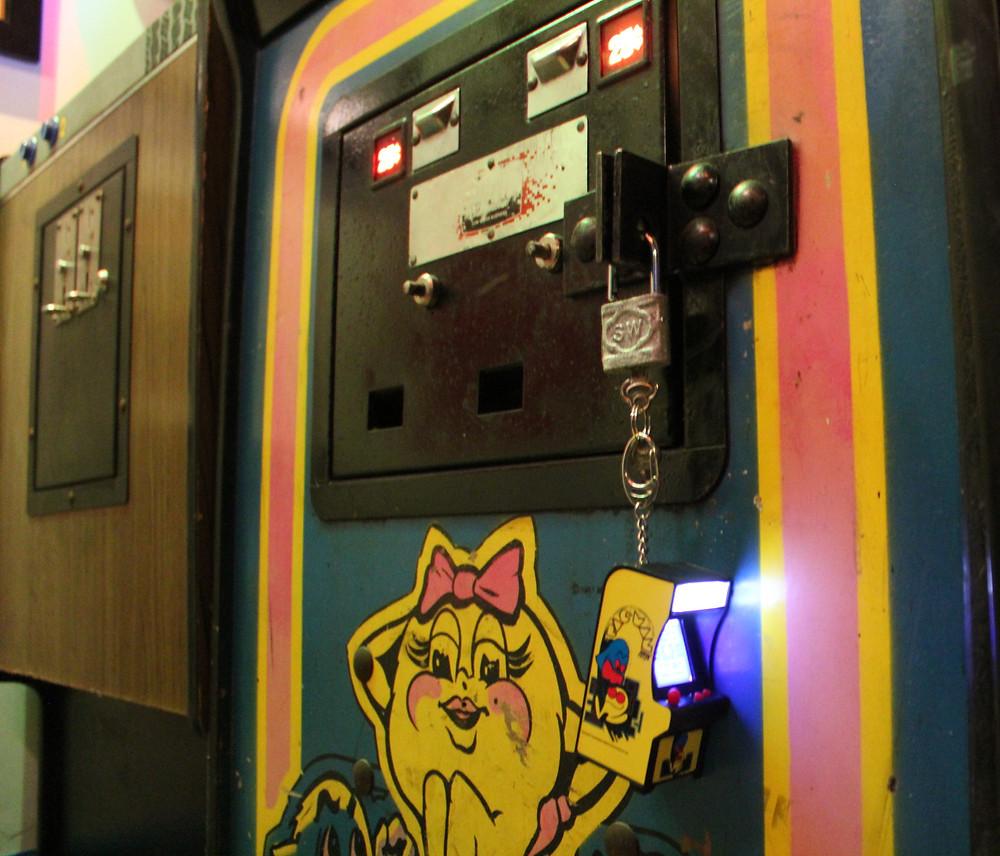 World's Smallest PAC-MAN Mini Arcade key chain.