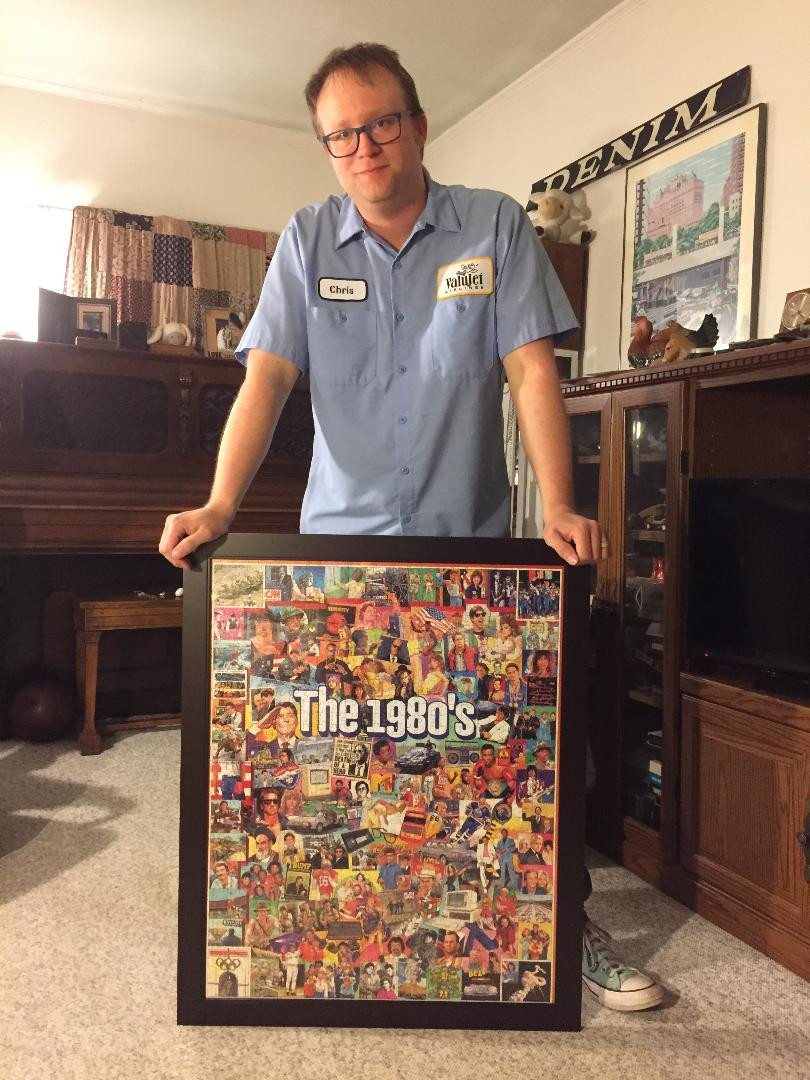 White Mountain 1,000-piece '80s puzzle.