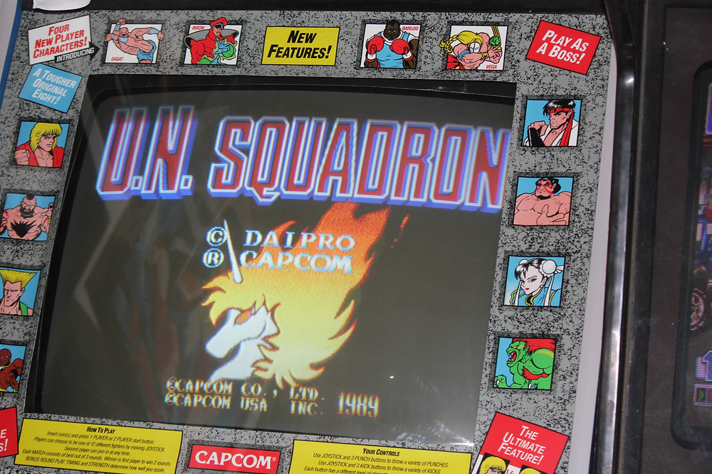 U.N. Squadron Area 88 arcade game.