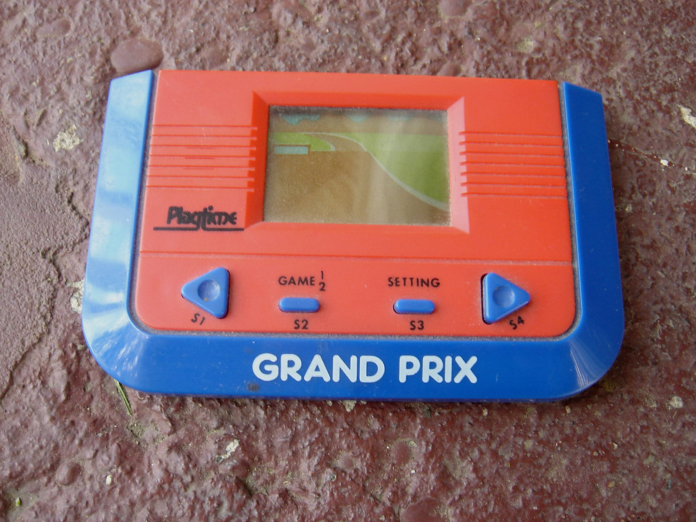 Grand Prix LCD handheld videogame by Playtime.