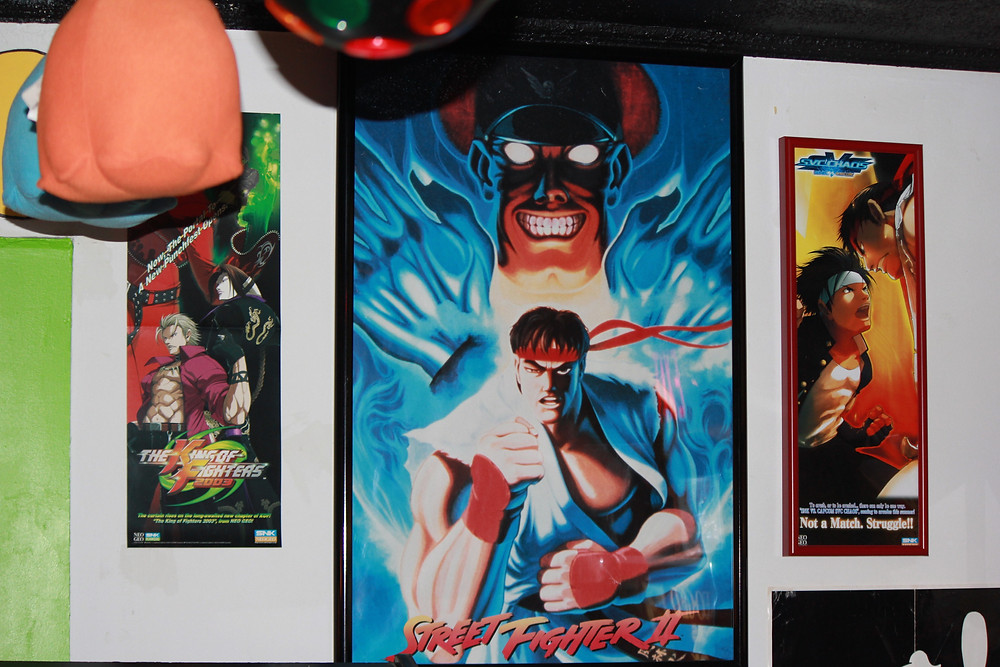 Vintage Street Fighter II poster.