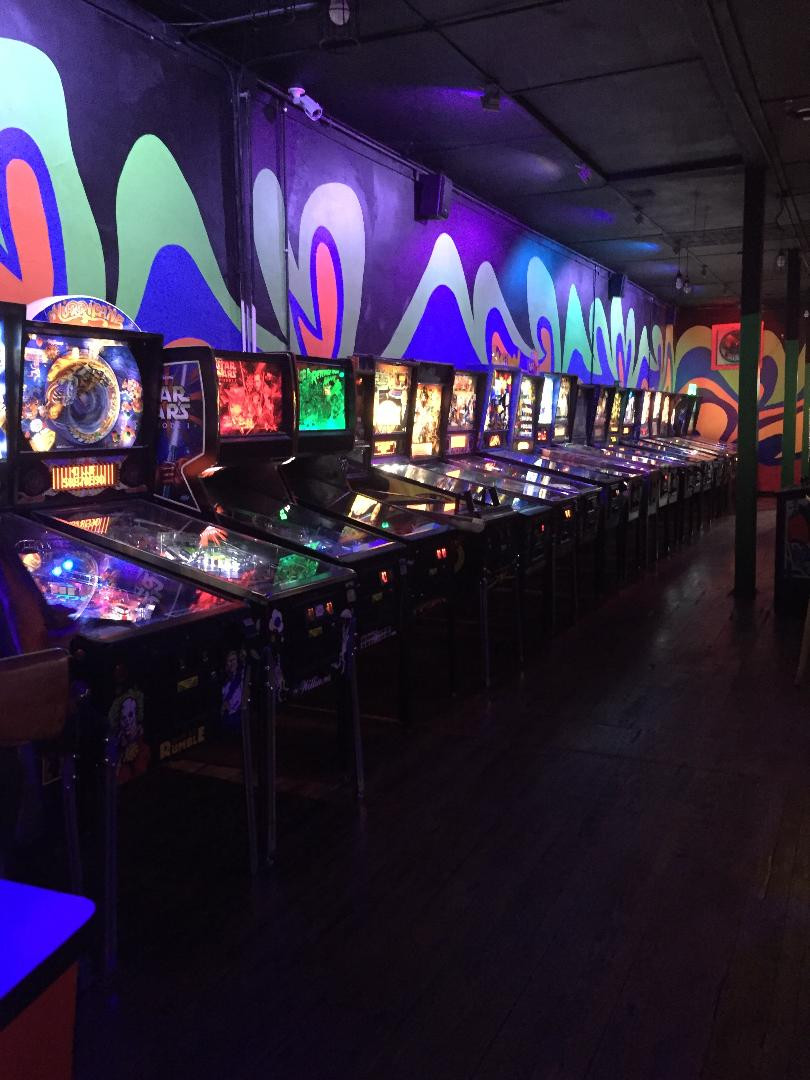 Pinball machines at Robot City Games, Binghamton, NY
