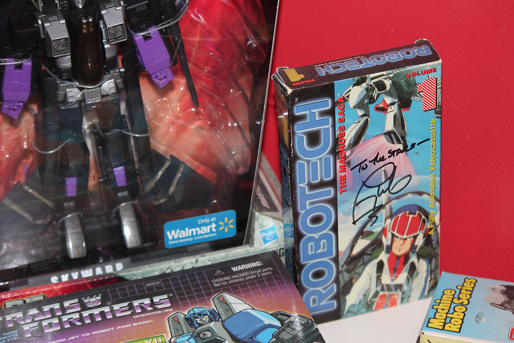 Robotech VHS tape autographed signed by Tony Olivier.