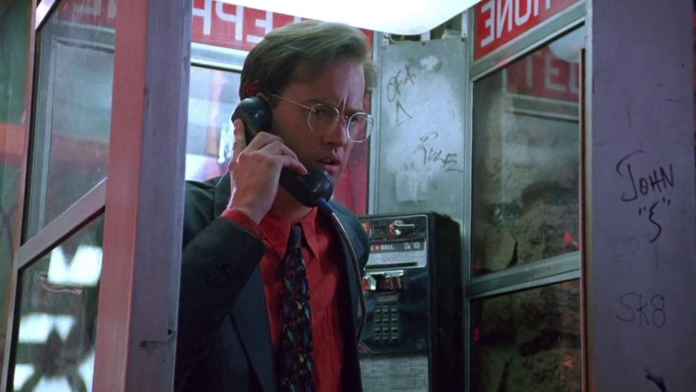 "Anthony Edwards in a phone booth in Steve De Jarnatt's ""Miracle Mile."""