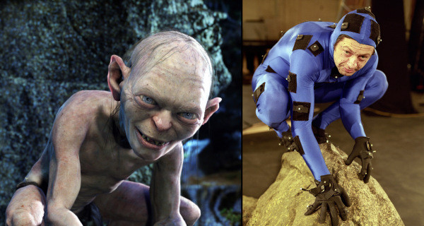 Andy Serkis as Gollum in Lord of the Rings