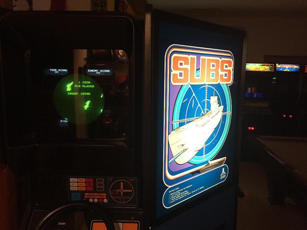 Atari Subs 1979 arcade game
