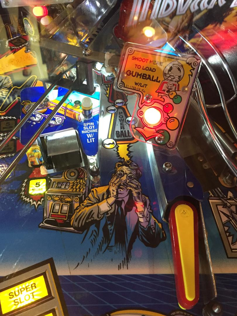 The Twilight Zone Henry Beamis pinball playfield