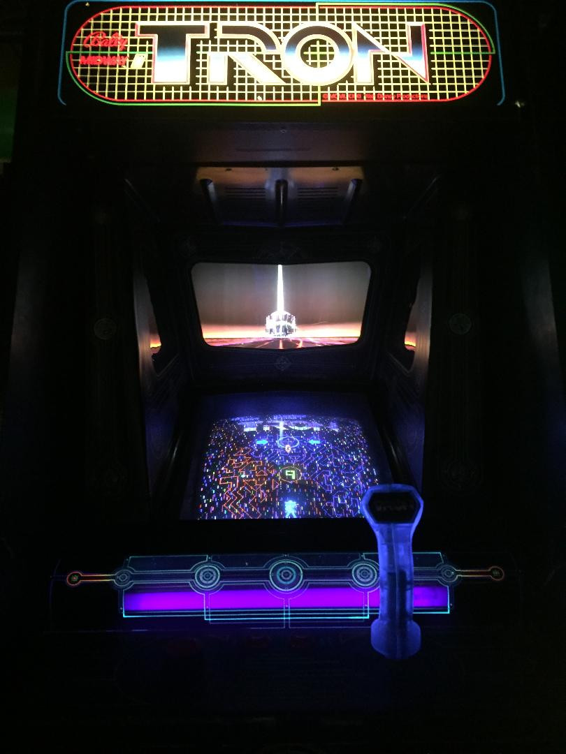 Tron arcade machine.