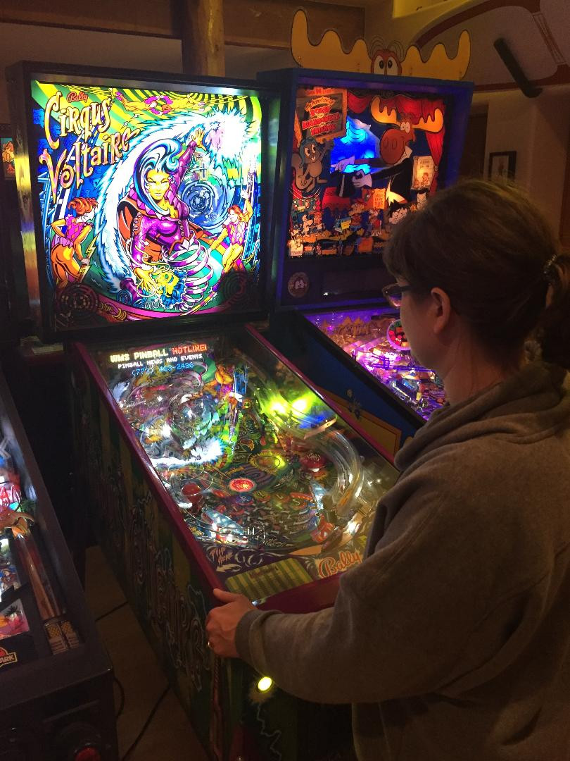Bally Cirqus Voltaire and Data East Rocky and Bullwinkle pinball machines