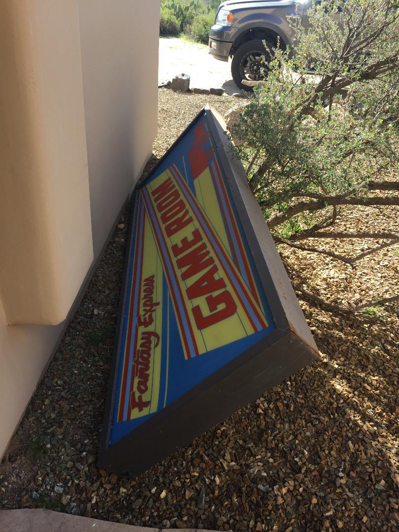 Vintage arcade sign